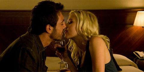 Head, Fun, Photograph, Drink, Glass, Alcohol, Kiss, Drinkware, Romance, Interaction,