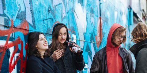 People, Youth, Event, Art, Fun, Outerwear, Mural, Photography, Street art, Tourism,