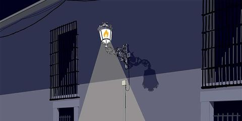 Tower, Architecture, Facade, Animation, Street light, Building, Screenshot, Fictional character, Illustration,