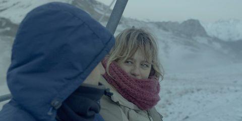 Winter, Comfort, Freezing, Hood, Jacket, Snow, Geological phenomenon, Fur, Scarf, Ice cap,