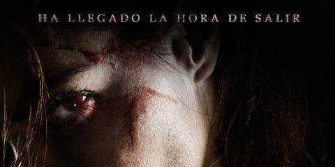 Lip, Darkness, Poster, Flash photography, Portrait photography, Fiction, Movie, Photo caption, Flesh, Publication,