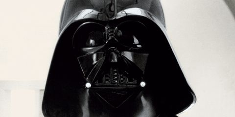 Darth vader, Supervillain, Fictional character, Costume accessory, Black, Toy, Mask, Cloak, Costume, Fiction,