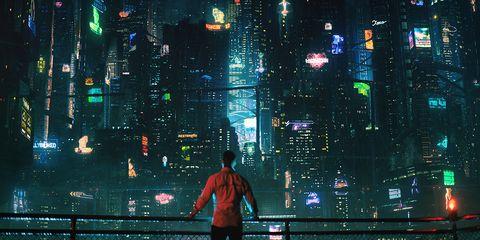 Metropolis, Metropolitan area, City, Human settlement, Urban area, Cityscape, Night, Digital compositing, Pc game, Skyscraper,