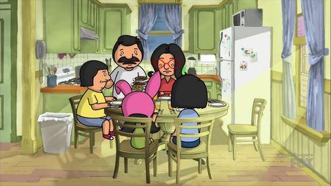 Cartoon, Animated cartoon, Illustration, Room, Animation, Art, Conversation, Sitting, Fiction, Sharing,