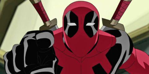 Deadpool, Fictional character, Superhero, Carmine, Illustration,