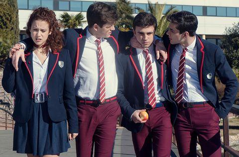 Social group, Uniform, School uniform, Youth, Team, Event, Fun, Outerwear, Jacket, Medal,
