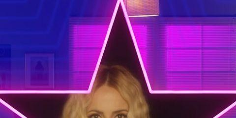Violet, Purple, Triangle, Pyramid, Electric blue, Magenta, Television presenter,