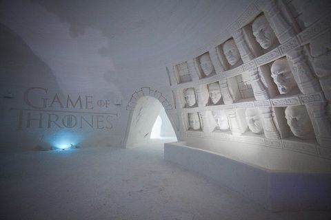 Light, Atmospheric phenomenon, Wall, Architecture, Atmosphere, Ice hotel, Building, Room, Arch, Stock photography,