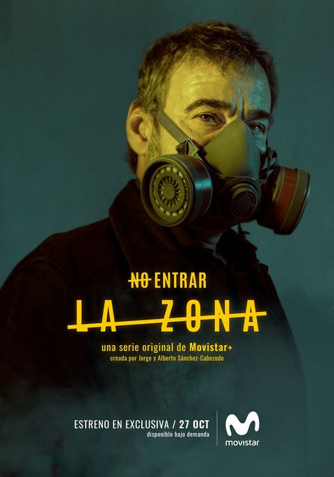 Personal protective equipment, Poster, Gas mask, Movie, Mask, Headgear, Costume, Album cover, Advertising,