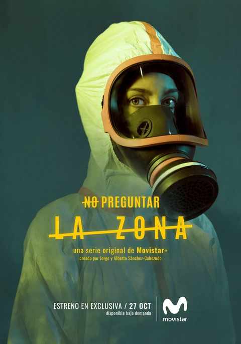 Personal protective equipment, Gas mask, Mask, Poster, Headgear, Costume, Font, Graphic design, Illustration, Album cover,