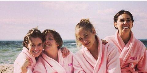 Fun, Robe, Summer, Vacation, Leisure, Sitting, Smile, Family,