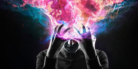 Colorfulness, Purple, Magenta, Violet, Pink, Electric blue, Animation, Darkness, Space, Graphics,