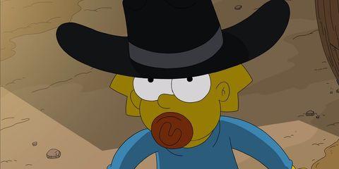 Cartoon, Animated cartoon, Animation, Cowboy hat, Illustration, Hat, Headgear, Fictional character, Art, Fiction,