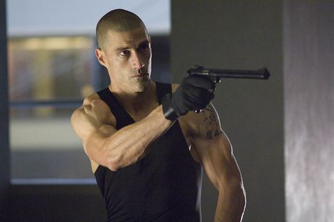 Shoulder, Arm, Muscle, Joint, Human body, Combat pistol shooting, Elbow, Chest, Shooting, Shooting sport,