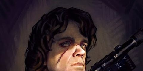 Gun, Air gun, Shooting, Animation, Shotgun, Painting, Gun barrel, Revolver, Fictional character, Artwork,