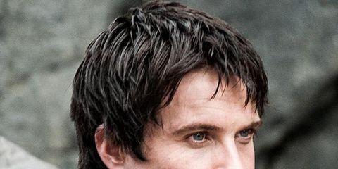 Hair, Hairstyle, Human, Chin, Facial hair, Surfer hair, Beard, Jacket, Black hair,