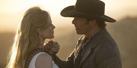 Hat, Headgear, Interaction, Fun, Cowboy hat, Love, Gesture, Fashion accessory, Fedora, Romance,