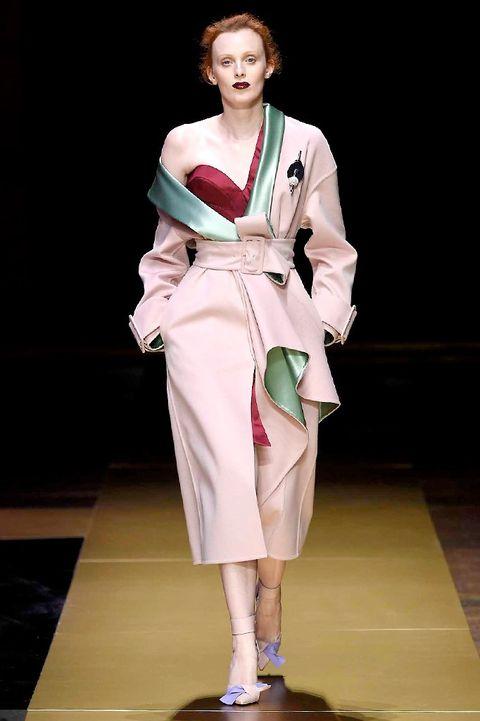 Sleeve, Style, Fashion show, Fashion, High heels, Fashion model, Costume design, Sandal, Runway, Model,