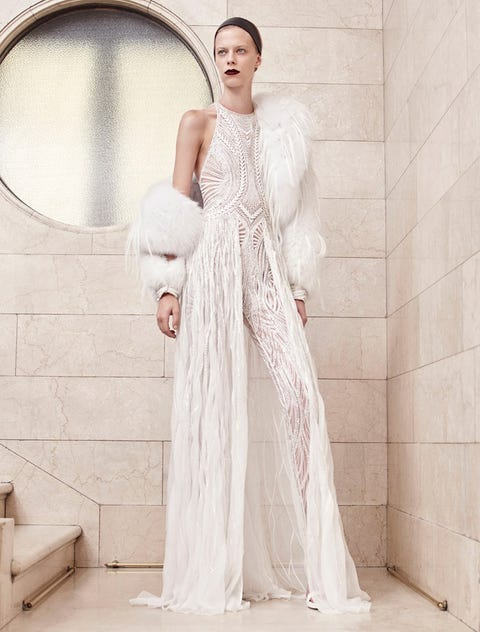 Gown, Clothing, Wedding dress, Dress, Shoulder, Fashion model, Bridal clothing, Bridal party dress, A-line, Bridal accessory,