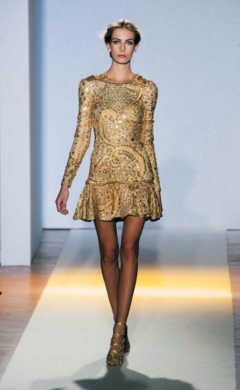 Clothing, Human, Fashion show, Human body, Shoulder, Human leg, Joint, Dress, Runway, Fashion model,