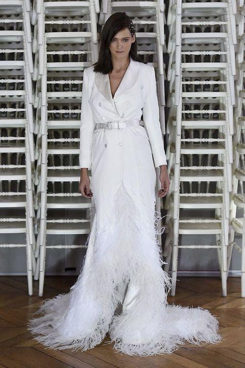 Sleeve, Shoulder, Textile, White, Floor, Style, Flooring, Formal wear, Dress, Street fashion,