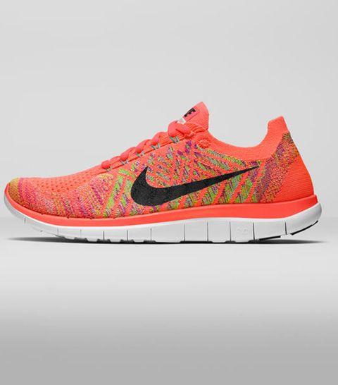 Footwear, Product, Shoe, Sportswear, Athletic shoe, Red, White, Orange, Sneakers, Light,