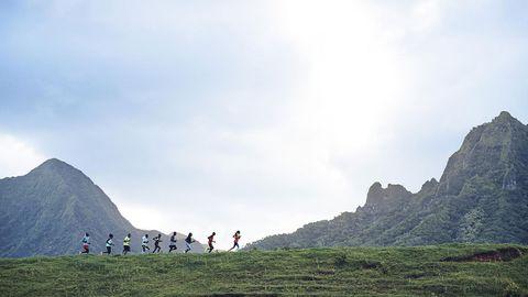 Sky, Mountainous landforms, Highland, Hill, Mountain, Slope, Mountain range, Terrain, Grassland, Hill station,
