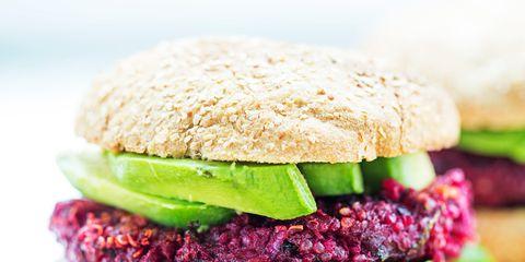 Food, Finger food, Green, Cuisine, Ingredient, Produce, Baked goods, Pink, Sandwich, Bun,