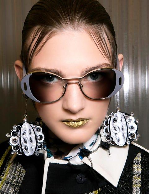 Eyewear, Vision care, Collar, Fashion accessory, Cool, Eyelash, Portrait photography, Button, Portrait, Silver,