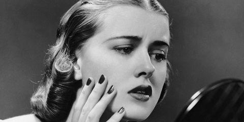 Finger, Eyebrow, Hand, Style, Eyelash, Jewellery, Beauty, Monochrome photography, Wrist, Kitchen utensil,
