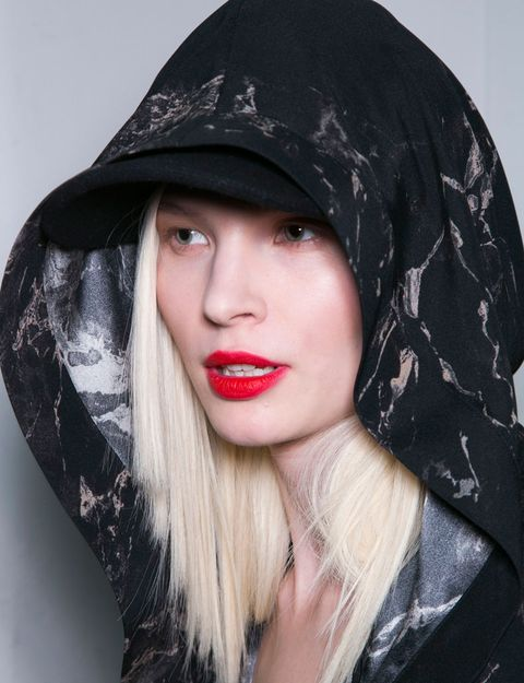 Nose, Mouth, Lip, Headgear, Costume accessory, Black hair, Eyelash, Fashion, Long hair, Lipstick,
