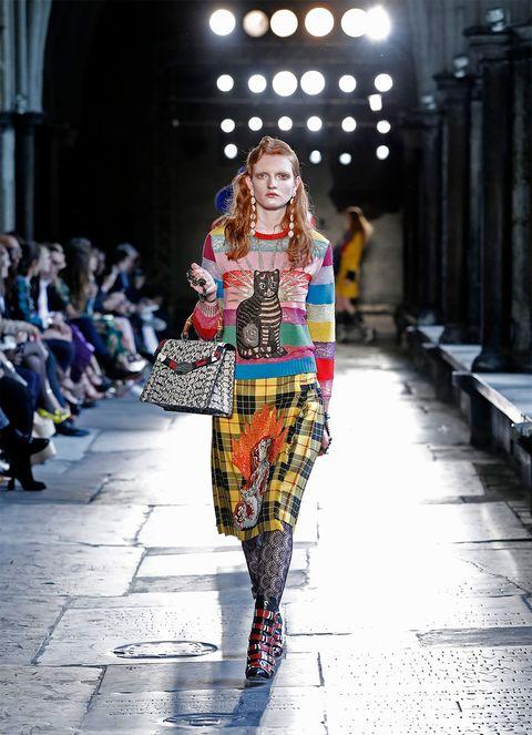 Fashion show, Runway, Style, Winter, Pattern, Street fashion, Fashion model, Fashion, Costume design, Model,