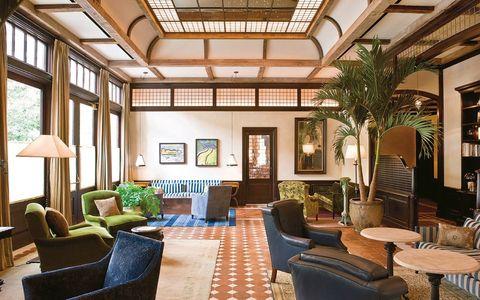 Lighting, Interior design, Floor, Furniture, Room, Ceiling, Flooring, Real estate, Interior design, Chair,