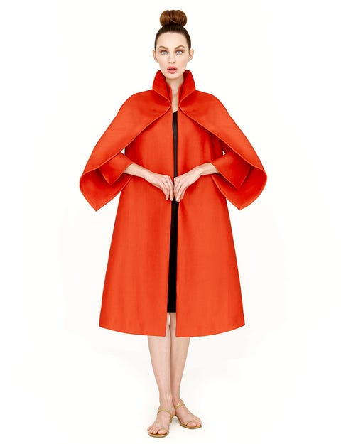 Clothing, Sleeve, Shoulder, Coat, Textile, Collar, Standing, Joint, Red, Style,