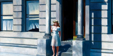 Blue, Photograph, White, Beauty, Street fashion, Light, Standing, Fashion, Architecture, Dress,