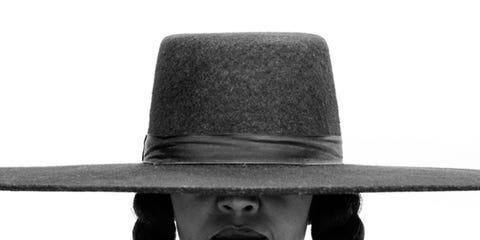 Hat, Fashion accessory, Fashion, Headgear, Black-and-white, Monochrome, Neck, Costume hat, Costume accessory, Photography,