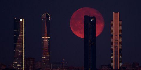 Tower, Tower block, Metropolitan area, City, Night, Metropolis, Skyscraper, Urban area, Building, Pink,
