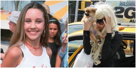 Sleeveless shirt, Sunglasses, Blond, Active tank, Dog breed, Long hair, Brown hair, Vehicle door, Companion dog, Fur,