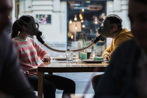 Audio equipment, Table, Sitting, Interaction, Sharing, Conversation, Hearing, Headphones, Audio accessory, Gadget,
