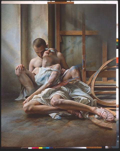 Barefoot, Art, Foot, Visual arts, Painting, Illustration, Artwork, Flesh, Mythology, Art model,