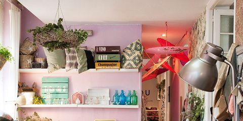 Room, Interior design, Flooring, Interior design, Teal, Floor, Home, Light fixture, Turquoise, Lamp,