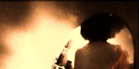Back, Barechested, Heat, Backlighting, Mythology, Art model, Fire, Flesh,