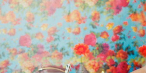 Turquoise, Pink, Yellow, Orange, Drink, Design, Summer, Hand, Table, Pattern,