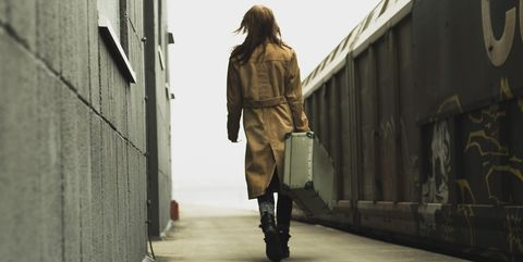Clothing, Brown, Jacket, Outerwear, Standing, Coat, Style, Bag, Street fashion, Street,