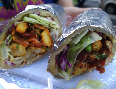 Food, Cuisine, Finger food, Dish, Produce, Sandwich wrap, Recipe, Plate, Snack, Fast food,