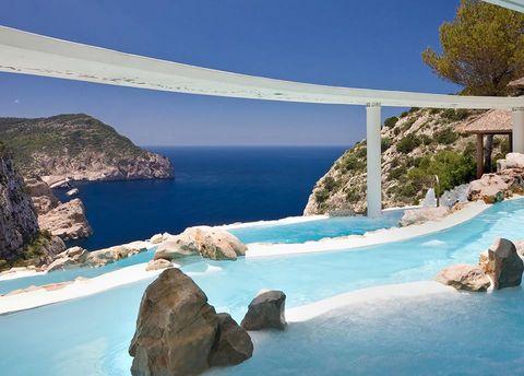 Nature, Natural landscape, Coast, Blue, Sea, Azure, Rock, Coastal and oceanic landforms, Sky, Bay,