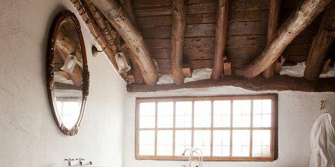 Wood, Room, Plumbing fixture, Interior design, Architecture, Property, Floor, Wall, Tap, Ceiling,