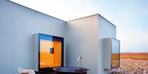 Property, Wall, Floor, Pebble, Rectangle, Door, Coffee table, Gravel, Concrete, Rubble,