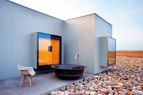 Property, Floor, Wall, Pebble, Coffee table, Door, Rectangle, Gravel, Concrete, Rubble,