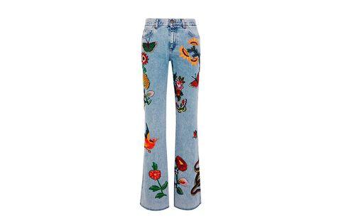 Textile, Denim, Orange, Pattern, Waist, Pajamas, Active pants, Visual arts, Pattern, Nightwear,